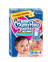 Mamy Poko Pant Style Large Size Diapers (48 + 4 Count)