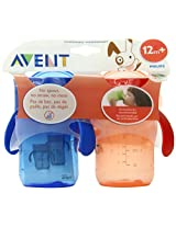 Philips AVENT 2 Count BPA Free Natural Drinking Cup Red and Blue 9 Ounce