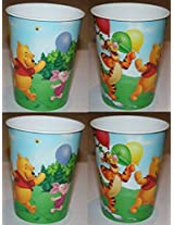 Disney Winnie The Pooh And Friends Plastic Cups With Pooh Tigger Piglet 4 Cups