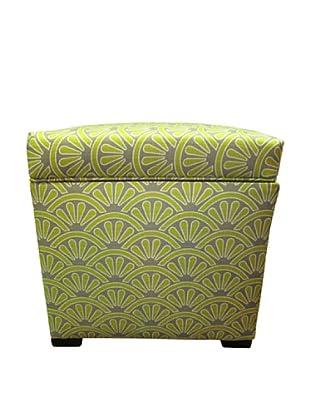 Sole Designs Tami Storage Ottoman, Bonjour Wassabi