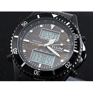【クリックで詳細表示】[エルジン]ELGIN 腕時計 電波 ソーラー ワールドタイム FK1349B-BP [並行輸入]: 腕時計通販
