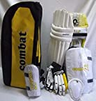 Combat Complete Cricket Kit With Rhino Ruff And Tuff Kashmir Willow Cricket Bat-Full Size