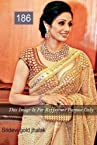 Celebrity SriDevi Style Beige Full Net Saree (186)