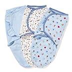 Summer 3 - Pack Infant SwaddleMe Sports (Blue/White)