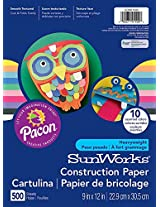 Roselle 9x12 Vibrant Art Construction Paper Value Pack (01500)