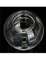 Romantic Clear Glass Candle Holder Fragrance Lamp Spa Aromatherapy Yoga(Pattern-C)