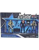 G.I. Joe, 50Th Anniversary Action Figure Set, The Eagles Edge (Leatherneck, Destro, And General Hawk)