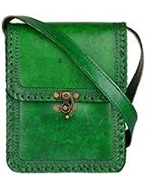Ali Baba Leather Green Messenger Bag (ABHB013)
