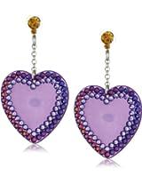 "Tarina Tarantino ""Iconic"" Purple Heart Drop Earrings"