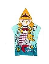 Baby Girls Polyester Fiber Bathroom Robes Towels Shower Cartoon Hooded Soft Washcloth Blankets Beach Children (#2)
