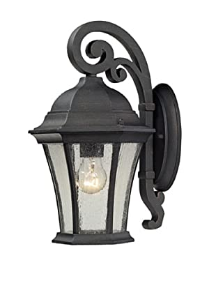 Artistic Lighting Wellington Park Outdoor Wall Sconce, Weathered Charcoal