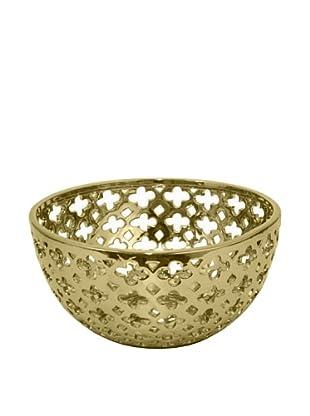 Three Hands Tall Ceramic Bowl (Gold)