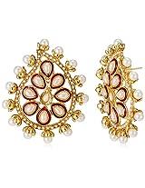 Ava Stud Earrings for Women (Golden) (E-SD-ACE546)
