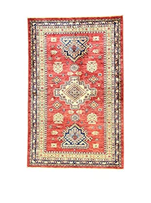 L'Eden del Tappeto Teppich Kazak Super rot/beige 149t x t97 cm