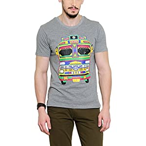 Yepme Men's Grey Graphic Cotton T-shirt -YPMTEES0259_S