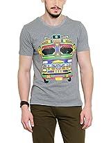 Yepme Men's Grey Graphic Cotton T-shirt -YPMTEES0259_S