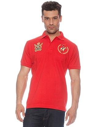 Polo Club Polo manga corta Escudo & Logo (Rojo)