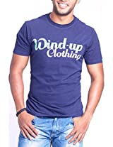 Masculino Latino Casual Blue T-shirts Round Neck for Men MLT1008A-L