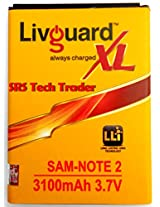 LivGuard Battery For Samsung Note 2 N7100 3100mAh