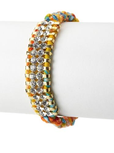 Shashi Two Row Original Adjustable Bracelet, Multi Yellow Gold Orange