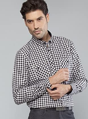 Roberto Verino Camisa Bolsillos (negro / gris / blanco)