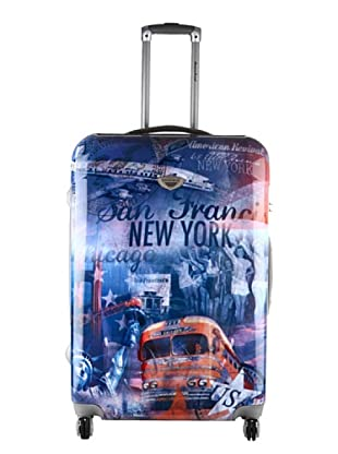 American Revival Trolley New York Bus 50x32x22 cm (Mehrfarbig)