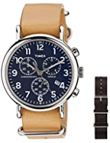 Timex Weekender Chrono Oversized Analog Blue Dial Unisex Watch - TW2P623006S