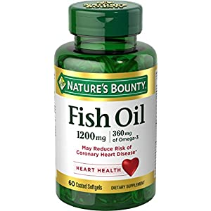 Nature's Bounty Odorless Fish Oil 1200 mg Omega 3 360 mg - 60 Softgels