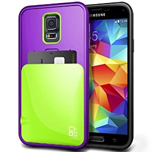 Generic Samsung Galaxy S5 Slim Fit Dual Layer Hard Blueberry & Lime Phone Case by Verus