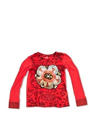 Desigual Camiseta Radio (Rojo Tierra)