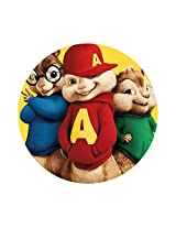 Huppme Alvin Printed Round Mouse Pad