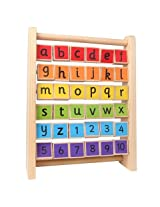 Alphabets & Numbers Multicolor Teaching Wooden Frame for Kids Ages 2+ Years