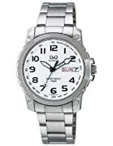 Q&Q Standard Analog White Dial Men's Watch - A166-204Y