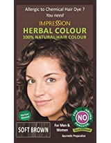 100% Chemical Free Natural Hair Colour by Impression - Soft Brown