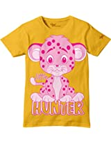 Glow in Dark Kids T-Shirt, Little Hunter Lion Cub Design by Grasshopr