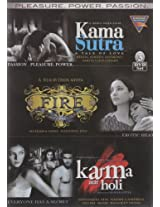 Set of 3 Movies DVDs : Kama Sutra , Fire , Karma aur Holi