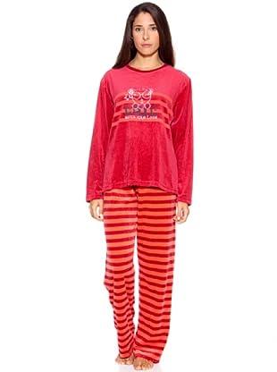 Bluedreams Pijama Señora Tundosado (Rojo)