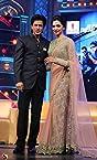 Deepika Padukone Beige Net Saree