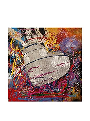 Arte dal Mondo  Wandbild Paolo Rossini Dipinto Cuore Love