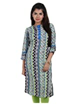 Modern Collection - Black Stunning Printed Kurta From eSTYLe