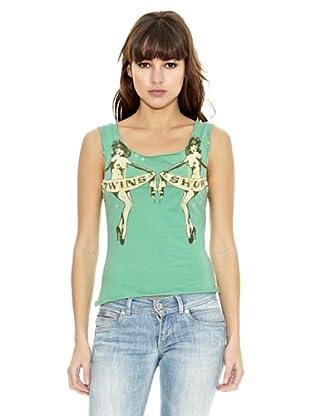 Z-BRAND Camiseta Cuello Redondo Dixie (Verde Claro)