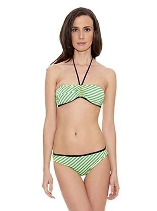 Cortefiel Bikini Bande Ray Biesfoam Ex (Verde)
