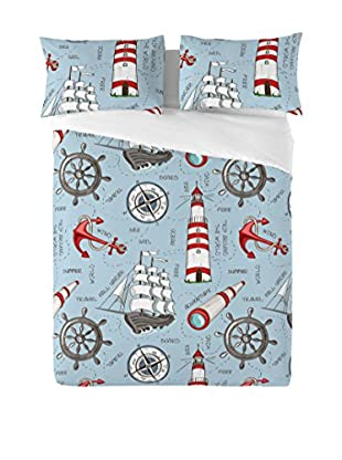 EUROMODA HOME LIVING Juego De Funda Nórdica Sailboat