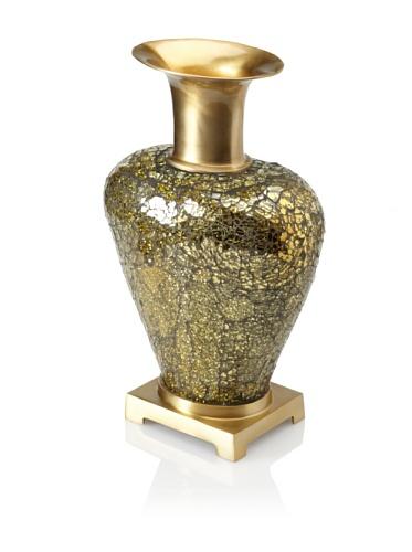 Carolyn Kinder Mosaic Vase, Gold