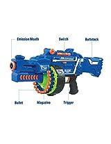 Catterpillar Blaze Storm Soft Bullet Gun (Blue)