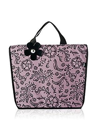 VIGAR Bolsa Multiusos Lulu Lace Rosa / Negro