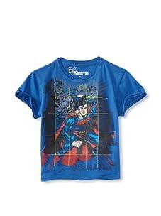 Kid's Republic Boy's Magic Cube Justice League T-Shirt (Royal Blue)