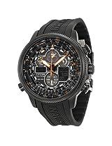 Citizen Navihawk A-T Black Dial Black Rubber Men's Watch - Czjy8035-04E