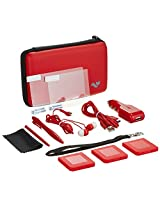 ButterFox Nintendo 3DS XL Console Deluxe 12-in-1 Accessory Travel Pack/Case (Red)