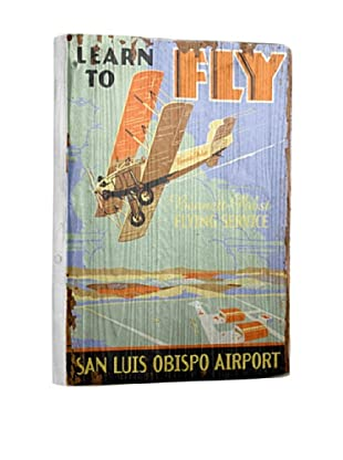 Artehouse Learn to Fly Reclaimed Wood Sign